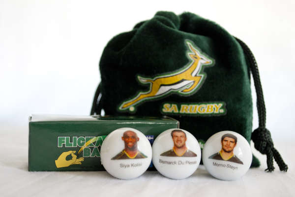 Flickaball Springbok Branded Marbles