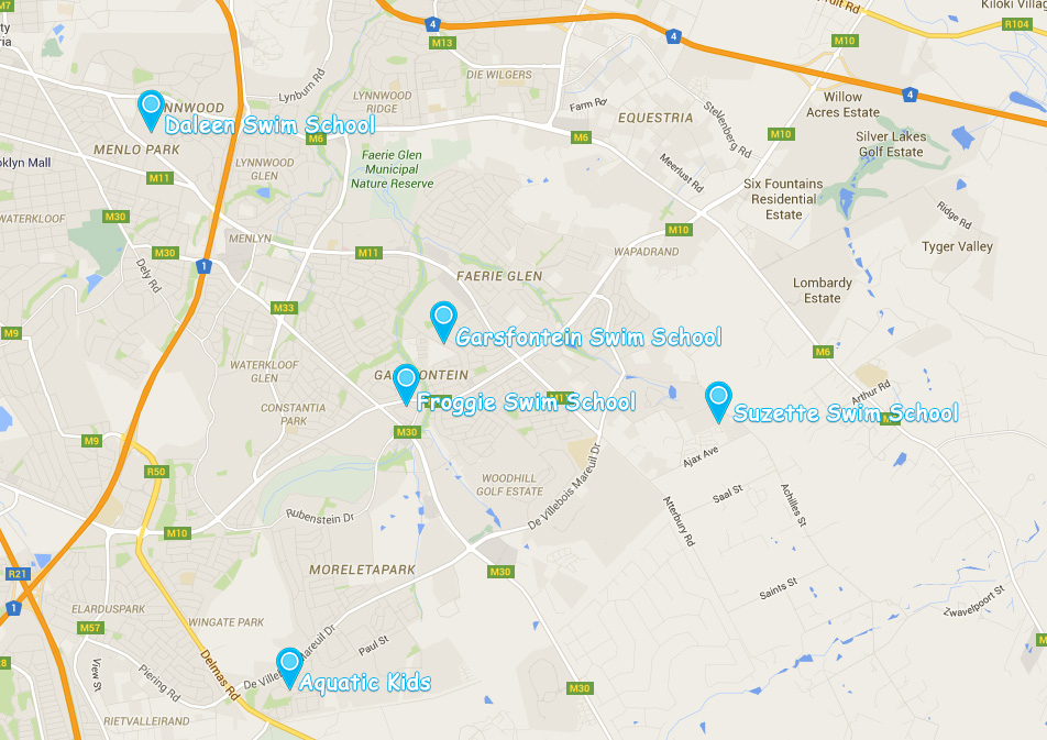 Swim Schools in Pretoria East