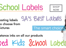 Personalized Kids School Labels - Cape Town